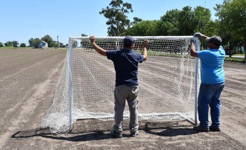 Primeras obras en el complejo deportivo